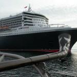 Le Queen Mary sur le St-Laurent - Quebec - Canada