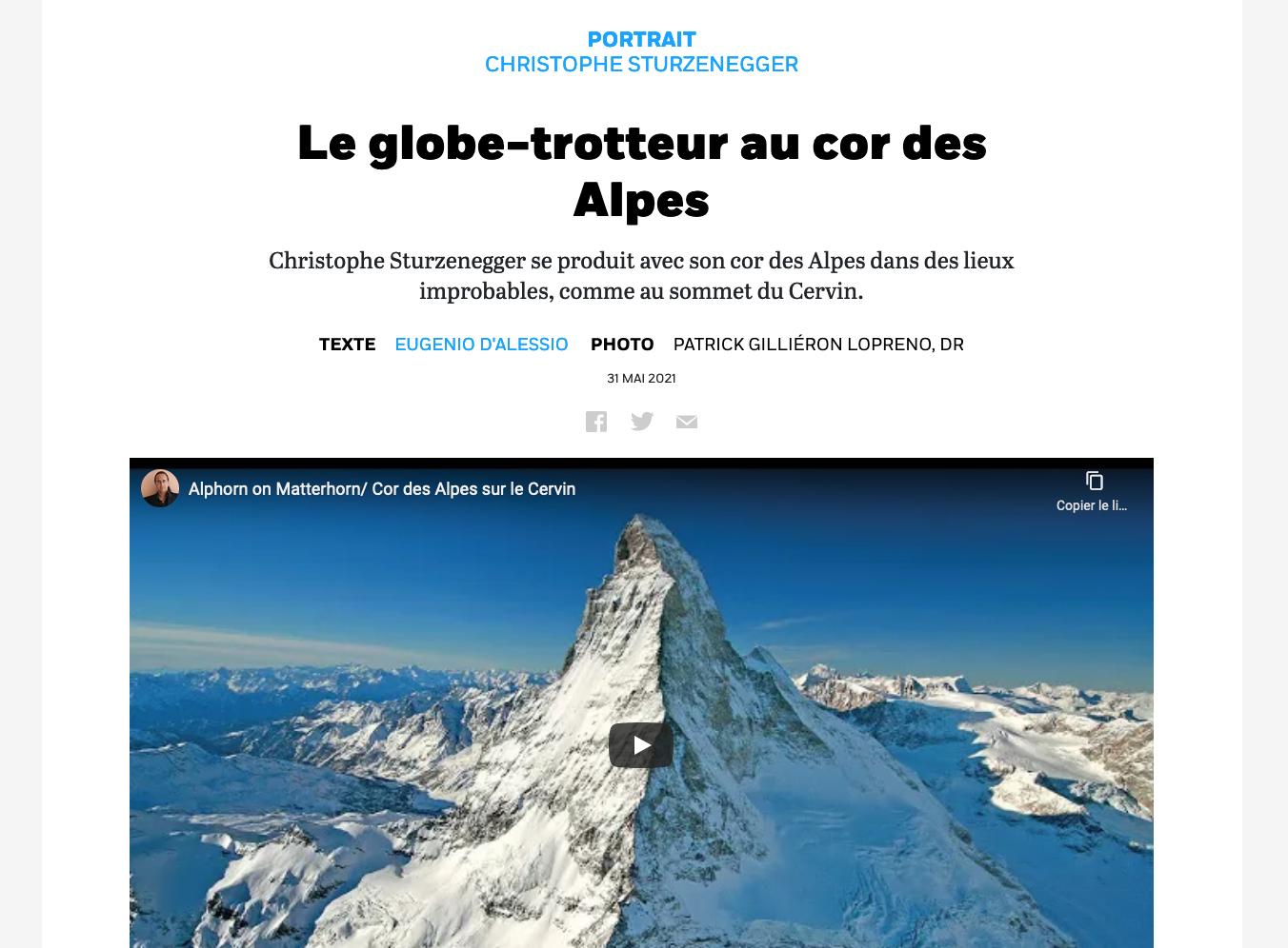 Christophe Sturzenegger - article Cooperation